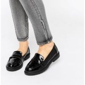 London Rebel Chunky Loafers - Black patent